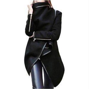 Black fleece cardigan-jacket